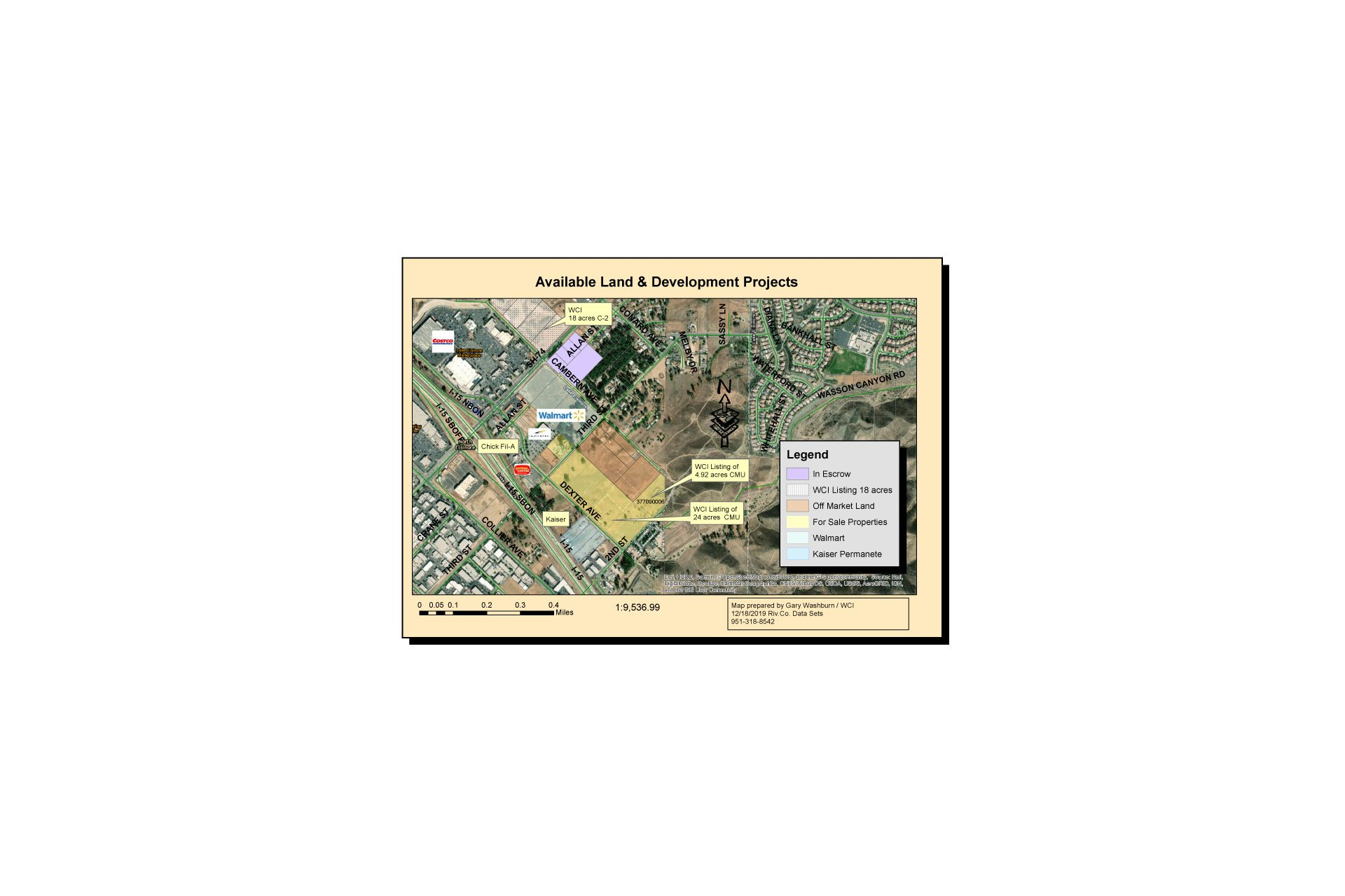 WCI land available for development